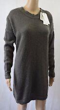 BNWT Toast Madli Mohair & Maglione in lana grigio caldo-Regno Unito media (R68)