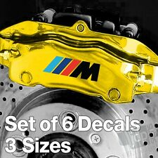 x6 BMW M Sport Badge Quality Brake Caliper Decals Stickers - Black & Colours