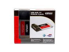 SCHEDA PCMCIA KRAUN PER COMPUTER PORTATILE 3 PORTE USB 2.0 KR.G2