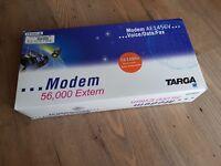Targa 56k6 AE1456V external serial modem boxed