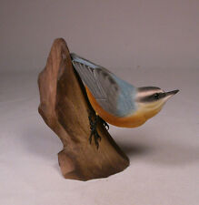 Red-breasted Nuthatch Original Bird Wood Carving/Birdhug
