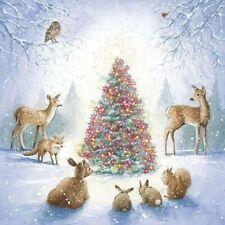 Winter Christmas Tree Diamond Painting Animal Forest Design Embroidery DIY Decor