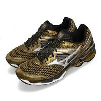 Mizuno Wave Creation 17 Gold Black Mens Cushion Running Shoes J1GC15-1850