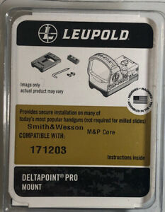 Leupold 171203 Deltapoint Pro Dovetail Mount, Sw Mp Core Matte-NEW-SHIP N 24 HRS