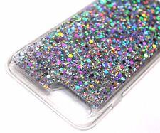 For iPhone 7 PLUS Slim Silver Full Glitter Shiny Hard Rubber TPU Skin Case Cover