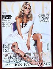 Vogue British ~ December 2004 ~ Sienna Miller Testino Tim Walker Angela Lindvall