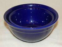 Set of 2 - McCOY POTTERY - Cobalt Blue Serving Bowls - USA 106, 107 - VINTAGE