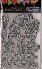 New Stampendous RUBBER STAMP cling JUMBO LAUREL BURCH MERMAID FREE US SHIP