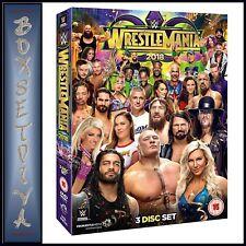 WWE WRESTLEMANIA 34 - 3 DISC SET  **BRAND NEW DVD