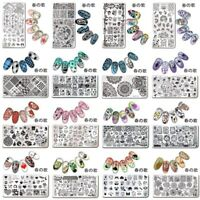 Nail Art Stamping Plates Rectangle Stamp Image Plate Template  Tools 春の歌