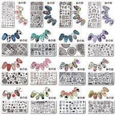 Nail Art imagen Sello Sellado Placas Rectángulo herramientas de plantilla de placa 春の歌