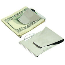 Mens Stainless Steel Wallet Double Sided Money Clip Fathers Dad ID Holder 24-3