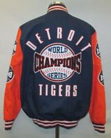 Detroit Tigers Men's Large Snap Mid Weight World Series Cloth Jacket MLB