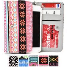 Women's Universal Tribal Pattern Paisley Wristlet Wallet Phone Case ESMLPS1|ECE