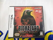 NDS GAME BIOHAZARD DEADLY SILENCE (ORIGINAL USED)