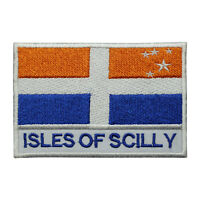 Isles Of Scilly County Flag Patch Iron On Patch Sew On Embroidered Patch