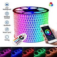 ATOM LED RGB LED Strip 220V Wireless Bluetooth App 60-120-144LED/m RGB LED Strip