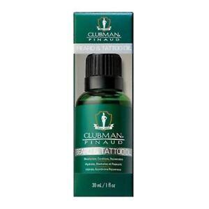 Clubman Pinaud Beard and Tattoo Oil 30ml moisturises, conditions and rejuvenates