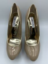 Jennifer Lopez Platform Stiletto Pumps Caliente Nude High Heels Beige ( Size 9)