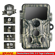 Campark 20MP Wildkamera WIFI 1296P Bluetooth Jagdkamera 940nm IR Nachtsicht IP66