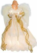 Kurt Adler 10 light 16-1/2-Inch ivory/gold Angel treetop #UL2163