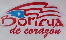 PUERTO RICO FLAG BORICUA DE CORAZON DECALS STICKERS SOUVENIRS