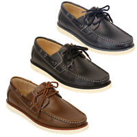 mens leather boat shoes driving lace up deck galax casual summer fashion new