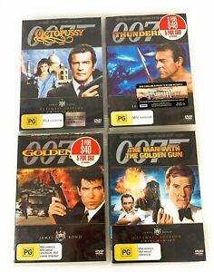 James Bond 007 DVD Bundle Golden Gun, Eye, Thunderball, Octopussy Region 4