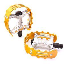 "Old school 1/2"" BMX XC-II Wellgo bear trap pedal - ONE PIECE CRANKS - Gold"