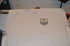MONSTER ENERGY white tee shirt UFC MMA size XL