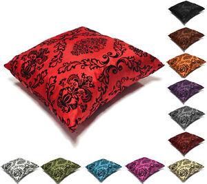 "Cushion Cover New Decorative Decor Throw Sofa Pillow Case Velvet Flock 17"" x 17"""