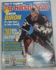 The Hockey News Magazine Martin Biron & 30 NHL Teams 2002-03 Yearbook 061615R