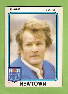 1981 NEWTOWN JETS SCANLENS RUGBY LEAGUE  CARD #118 TOM RAUDONIKIS