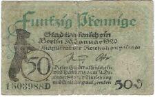 Notgeld - Stadt Berlin - 50 Pfennig - 1920