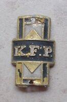 K.F.P UK bicycle head tube badge England antique bikes cycle bike 1