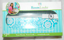 ROOM LOOKZ / LOCKER LOOKZ AQUA SCROLL ORGANIZER BIN FOR SCHOOL / OFFICE
