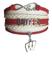 University of Wisconsin Badgers College Infinity Bracelet Jewelry Apparel