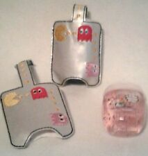 Hand Sanitizer Holder Silver Pac Man Game Embroidered 1 oz Bath & Body Works