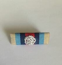 OSM AFGHANISTAN MEDAL RIBBON - PIN ON BAR WITH ROSETTE