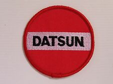Vintage Datsun Embroidered Patch 78mm Woven Cloth Badge Sew-on Motor Racing
