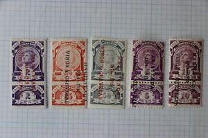 Mexico Revenue R346E 349a 350E 364aE 365aE 1914-1915 habilitada vinos y cervezas