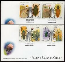 CHILE FDC COVER 1995 STAMP # 1712/9 CHILEAN INSECTS AND FLORA