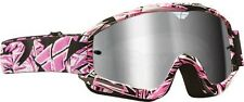 NEW FLY Racing Zone offroad Adult motocross atv goggles PINK WITH CHROME lense