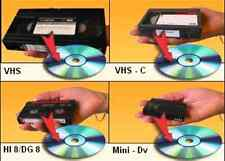 S-VHS S-VHSC VCR VIDEO RECORDER TAPES 8mm CAMERA FOOTAGE TO DVD TRANSFER SERVICE