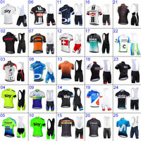 2020 Mens Team Cycling Jerseys Cycling Short Sleeve Jersey And Bib Shorts Set