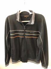 Men's BEN SHERMAN Full Zip Track Jacket-Black-Size Medium
