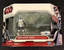 Star Wars Legacy Collection Speeder Bike Toys R Us Exclusive Scout Trooper MIB
