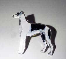 Cloisonne enamel Greyhound Whippet dog Pin vintage Old New Stock Nice! Jewelry*