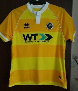 Millwall FC Football Away Shirt Yellow 2016-2017 Errea Size S Worldwide Post!