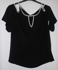 Select Black Cold Shoulder Top Size 18